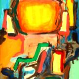 Abstract 16-001 - acrylic painting on canvas, 24in x 36in